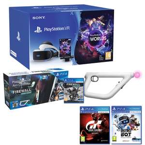 PlayStation VR Starter Pack Bundle +  VR Worlds + Astro Bot + Gran Turismo + Firewall Zero Hour with Aim Controller £214.99 @ Costco