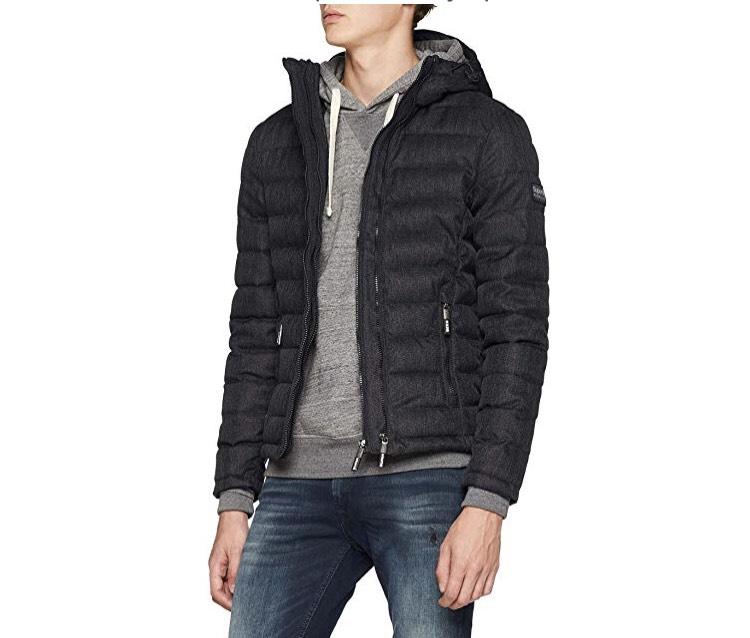 Men's Hooded Superdry Double Zip (black) Tweed Fuji Sports Jacket - £45 @ Amazon