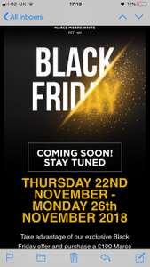 Black Friday Marco Pierre White now live £100 voucher for £50