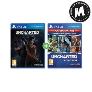 Uncharted: The Lost Legacy + Uncharted: The Nathan Drake Collection Hits(PS4) £19.99 Delivered @ Monster-Shop