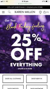 Karen Millen 30% off everything !