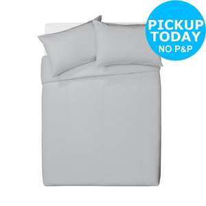 100% Brushed Cotton Grey Bedding Set - Kingsize  £17.00 Argos on eBay Free C&C  ( please see op for Double size.. )