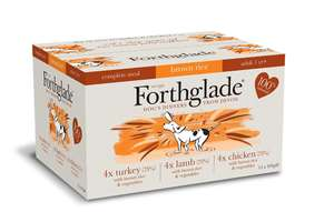 Forthglade 100% Natural Dog Food Complete Wet Dog Food with Brown Rice Variety Pack 395g (12 Pack) @ Amazon £11.04 Prime £15.53 Non Prime