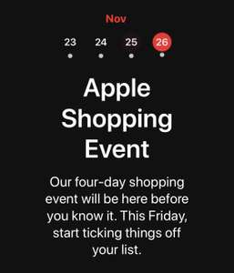 be95de0f95c4 NOW LIVE - The Apple Black Friday Shopping Event 23rd - 26th November