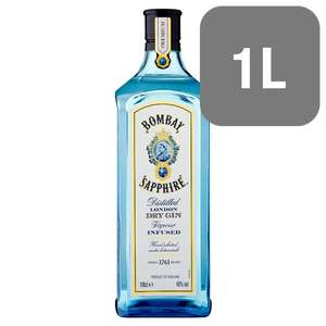 Heads up Bombay Sapphire 1 litre Gin £20 from tomorrow at Tesco till 1/1/2019
