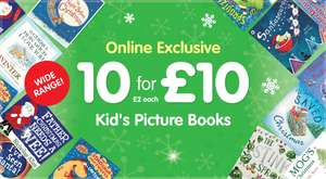 Lots of great kids books: 10 for £10 @ The Works