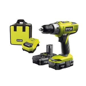 Ryobi LLCDI18022 ONE+ 18V Cordless Percussion Drill/Driver with 2x 1.3Ah Batteries and Charger £89.99 Amazon