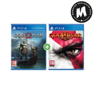 God of War + God of War 3 Remastered (£29.99), Gravity Rush 2 + GT Sport (£19.99), The Last Guardian + The Order (£19.99) @ Monster Shop