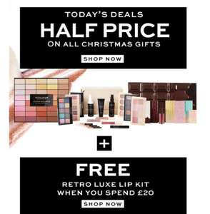 Half price on all Christmas gifts @ Revolution + Free Retro Luxe Lip Kit with £20 spend