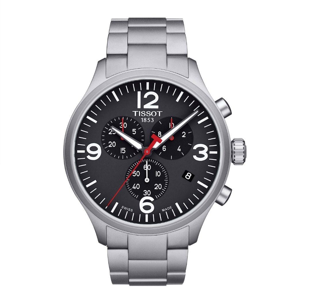 Tissot T-Sport Chrono XL Stainless-Steel And Black Dial Men's Watch £160 Fraser Hart