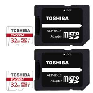 2 X Toshiba Exceria Micro SD SDHC Memory Card UHS-1 U3 90MB/s +SD Card Adapters - 32GB for £12.08 Delivered @ 7Dayshop