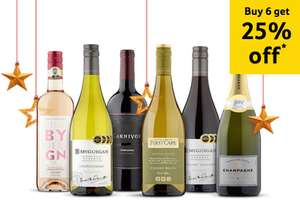 25% off 6 or More Bottles of Wine or Champagne + offers @ Tesco 20/11 - 3/12