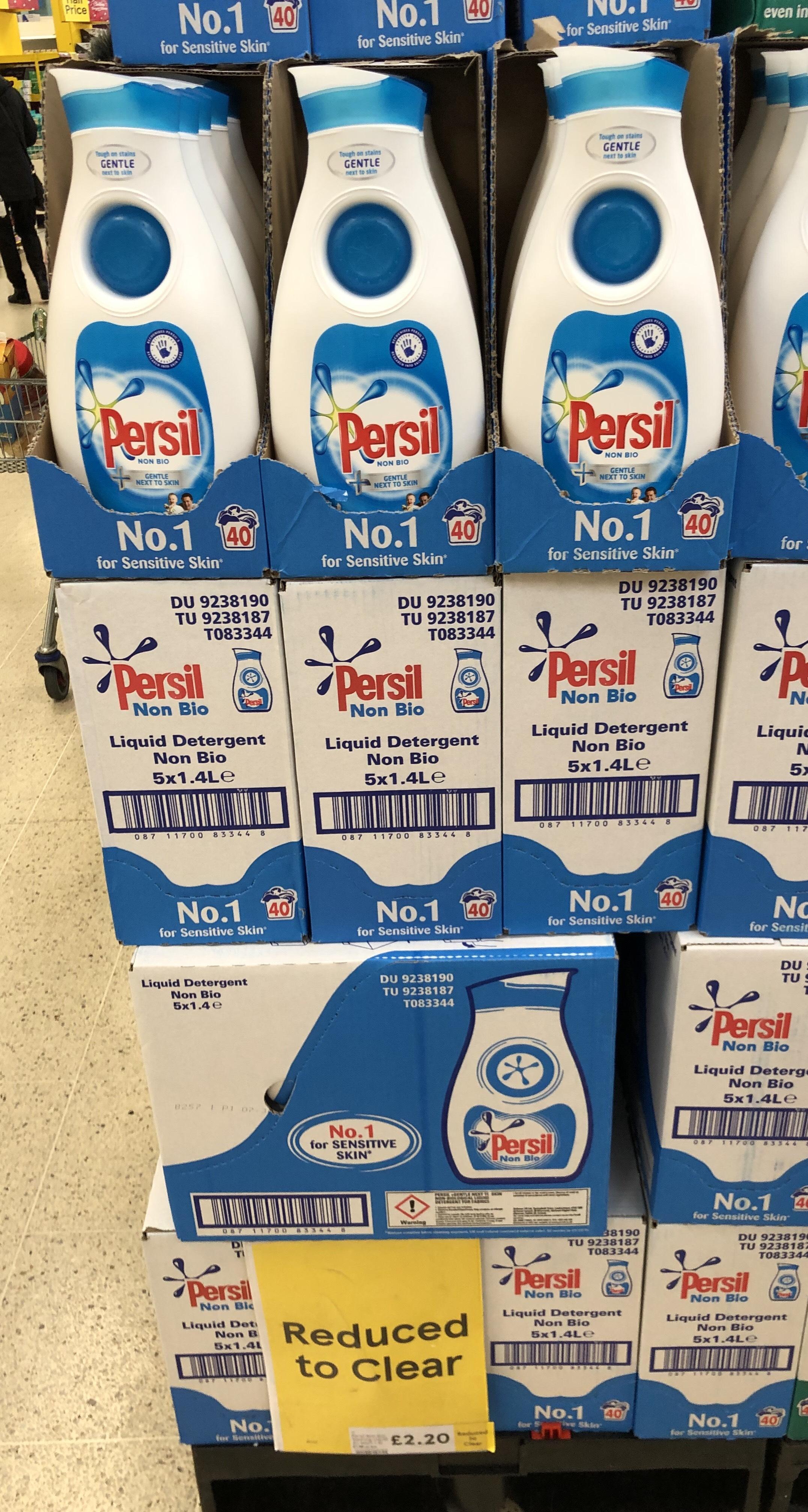 Persil Liquid Detergent Bio/Non Bio 1.4L £2.20 @ Tesco instore