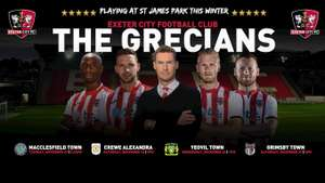 Exeter City FC 4 Big Bank tickets for the next 4 home games just £40 @ Exeter City fc