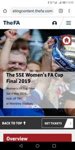 4 free children's tickets with each paying adult (£15) @ The FA for Women's FA Cup final