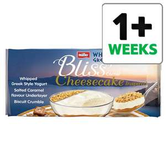 Muller Corner Bliss Cheesecake Salted Caramel 4X100g Half price £1.37 @ Tesco