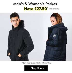 Tokyo Laundry - Mens and Women's Parkas £27.50