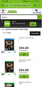 Call of duty Black Ops 4 at Asda £34 (+ £8 Quidco Cashback)