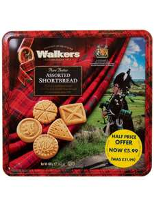 Walkers Assorted Shortbread Tin 400g £5.99, Free C+C update 20% off everything BF deal @ Edinburgh Woollen Mill