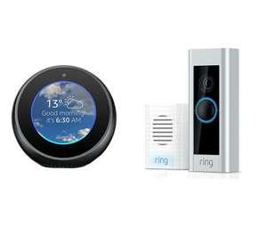 Ring Video Doorbell Pro with Chime + Free Amazon Echo Spot Black / White £149 delivered @ Currys