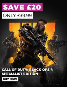BO4 SPECIALIST EDITION ONLY £39.99/ SPIDERMAN ONLY £34.99/ FIFA 19 ONLY £39.99/GOD OF WAR ONLY £24.99/ OTHER GAMES FROM £14.99 @GAME