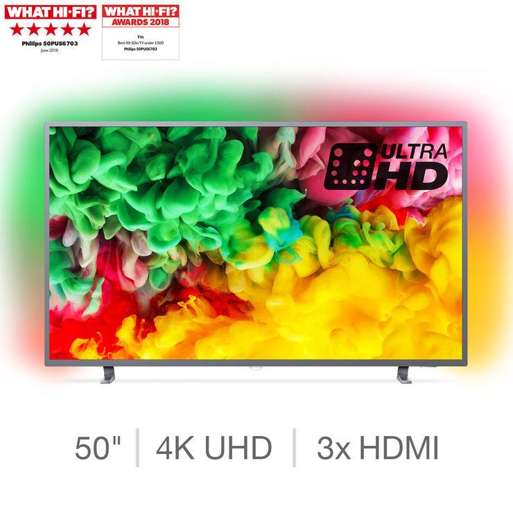 Philips 50PUS6703/12 50 Inch 4K UHD SMART Ambilight TV £379.99 delivered @Costco