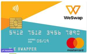 £25 travel money in a choice of currency on a prepaid Mastercard WESWAP @ Groupon