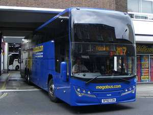 Book travel in November & receive a £5 voucher to use in Jan/Feb - prices from £1.50 inc booking fee @ Megabus