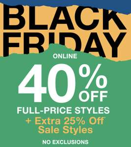 GAP :: 40% OFF Full-price styles & extra 25% OFF Sales! (ONLINE)