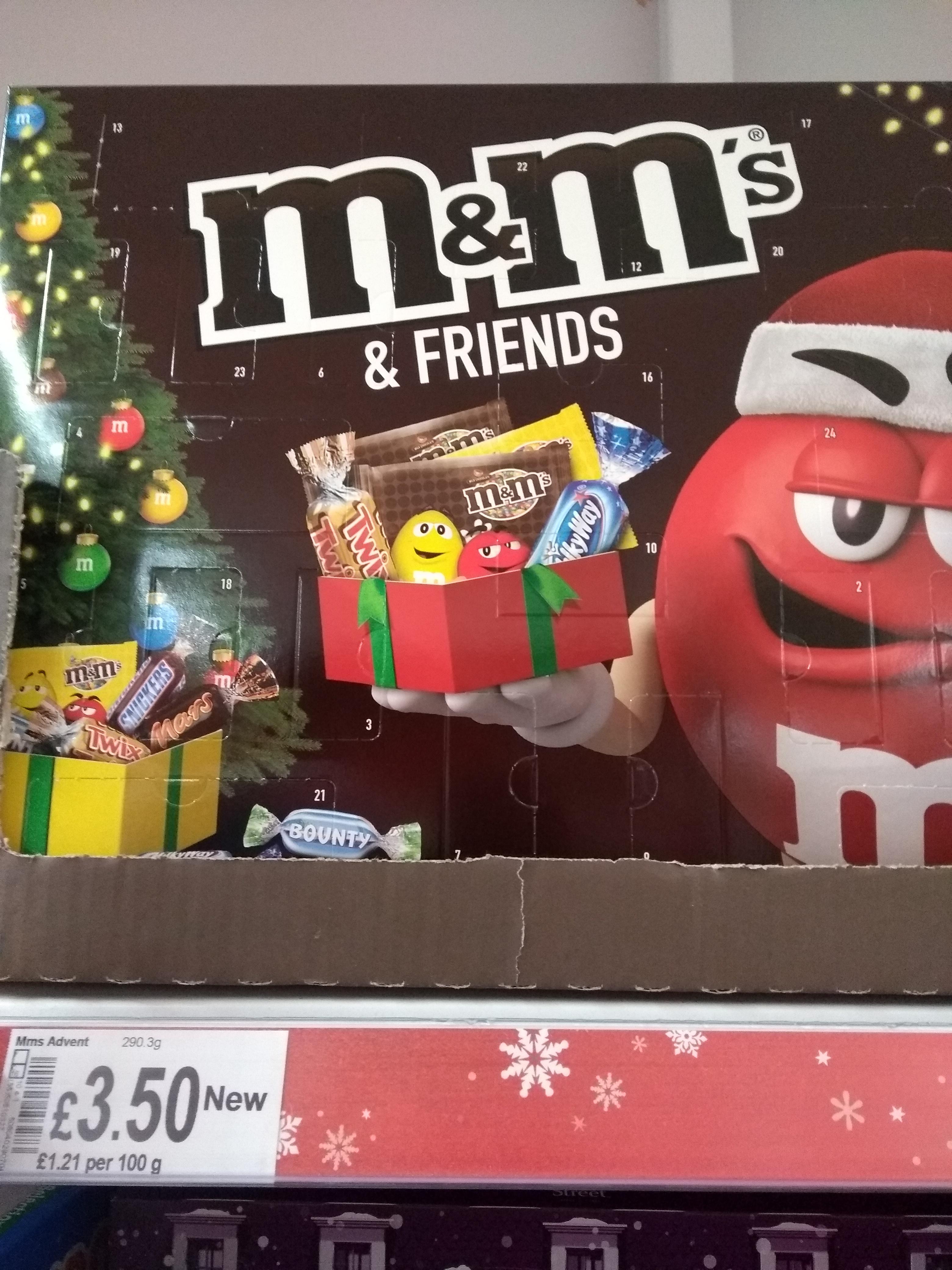 M&M's & Friends Advent Calendar 290g , £3.50 @ Asda