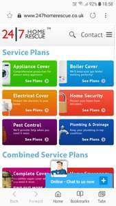 Boiler Breakdown Cover @ 24/7 Home Rescue - £4.32 per Month (with code)