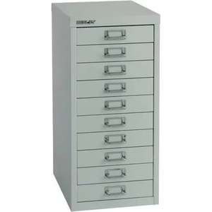 Bisley steel Multi-drawer Cabinet A4 10 Grey £47.99 @ Viking Direct