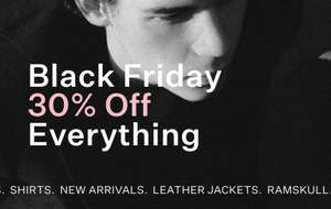 AllSaints 30% Off Everything Black Friday (Up to 80% off outlet category) + Free Prime Delivery