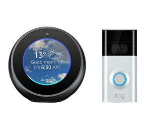 Echo Spot and Ring doorbell 2 Bundle only £129!! @ Currys