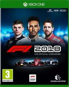 F1 2018 Standard Edition - Xbox One & PS4 - £25.85 Delivered @ eBay (Boss_Deals)