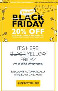 20% off ALL full price items and Free delivery when spent above £35 @ L'occitane