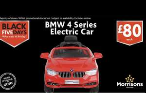 BMW 4 Series electric ride on car £80 @ Morrisons