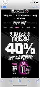 Muc-Off 40% off everything + free gift on spends over £40