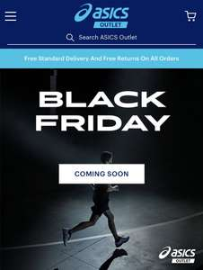 Black Friday - Asics outlet up to 70% OFF Collections + Extra 10% Off w/code + Free Delivery & Returns eg Classic Tempo £18