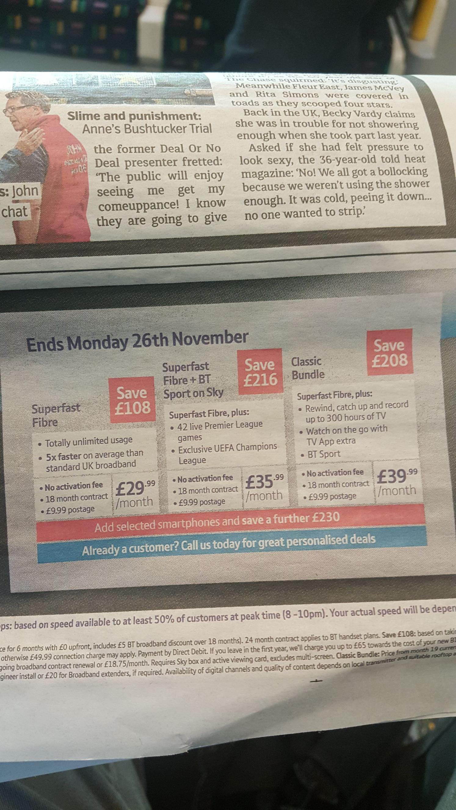 BT Superfast Broadband + BT Sports 18 months £35.99 p/m - £9.99 postage - £657.81