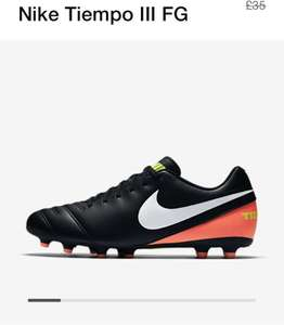 Nike Tiempo Men's football boots £12.23 and free delivery with code at Nike