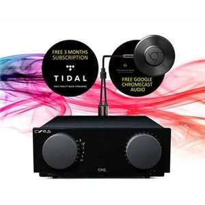 Cyrus ONE Amplifier £499 with 3 months Tidal and Free Google Chromecast Audio £499 at superfi