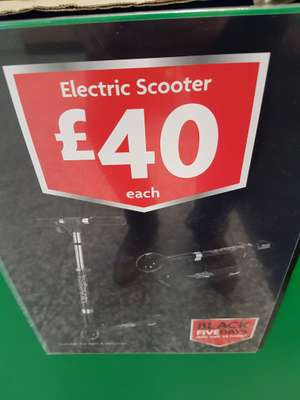 Electric Scooter £40 in Morrisons