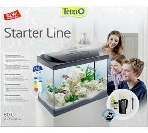 Tetra 80L Fish Tank Argos now £74.99 - 25% off (include: heater, lighting, in tank filtration system, water conditioner.)