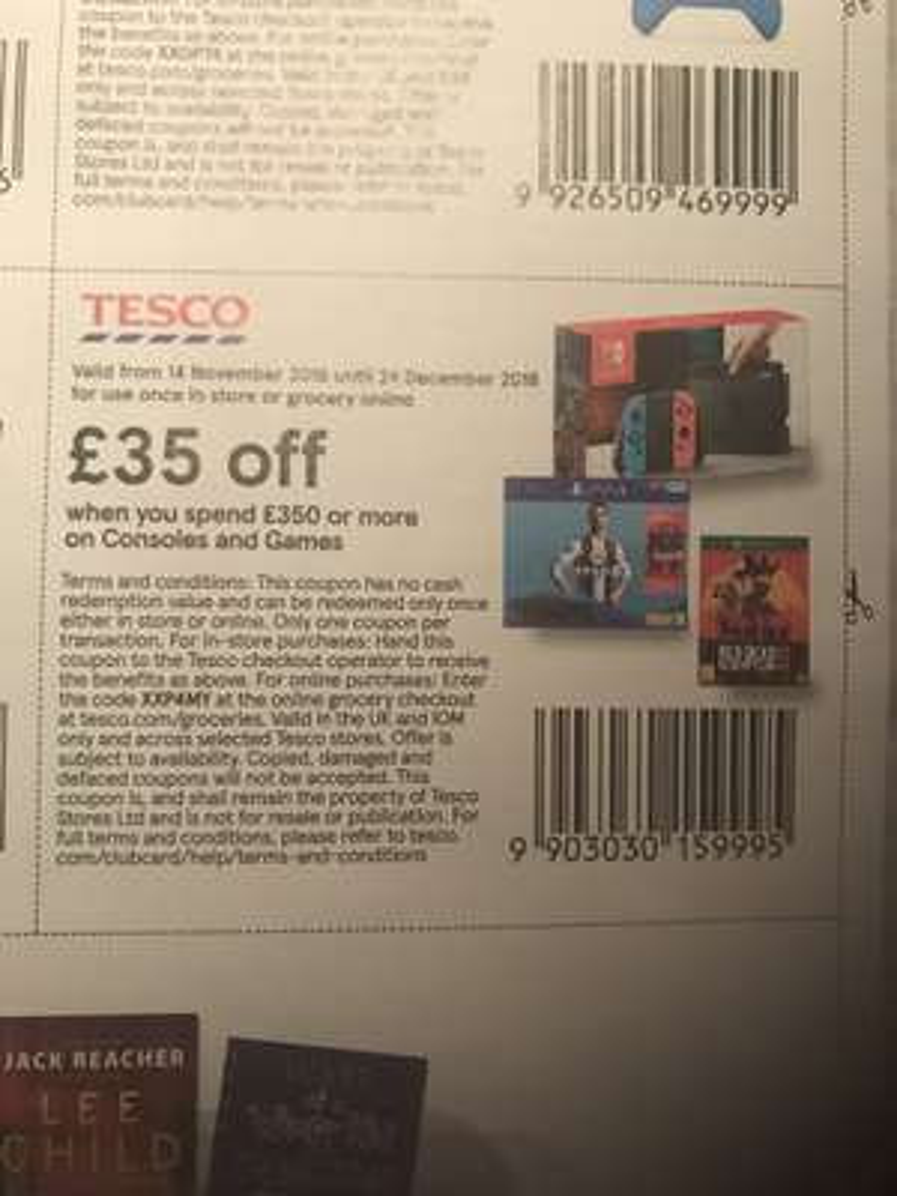 Tesco £35 off voucher £350 spend all games and consoles inside Tesco Magazine