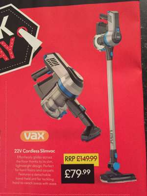 Vax - 22v Cordless Slimvac instore at Lidl for £79.99