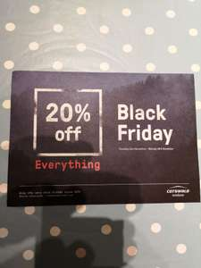 20% off everything at Cotswold Outdoor