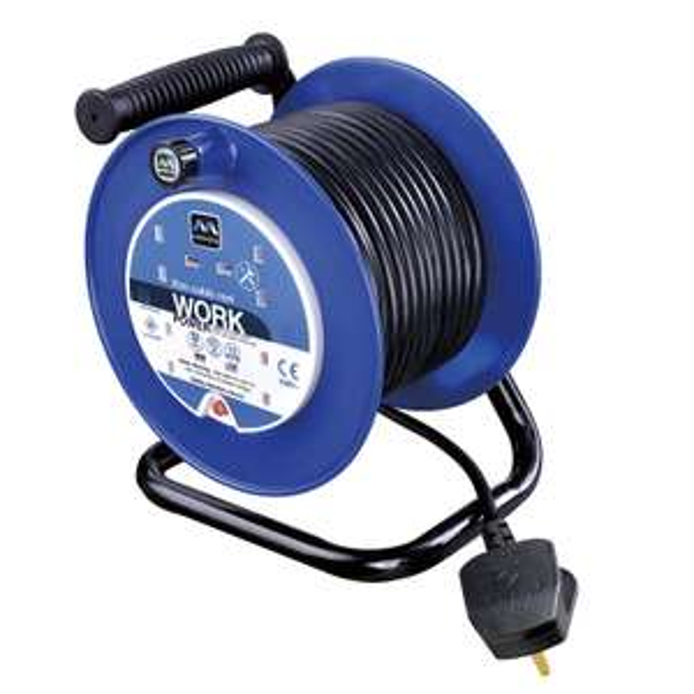 Masterplug 13amp 4 Socket 25m Open Cable Reel (LDCC2513/4BL, Blue), £22.89 @ Amazon UK
