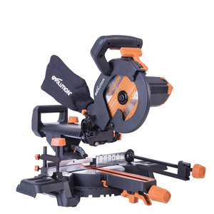 Evolution R210SMS+ 230V Multi-Material Sliding 210mm Mitre Saw with Plus Pack, £106.68 @ Amazon UK