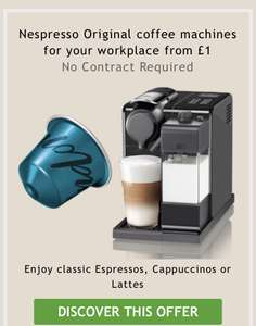 Nespresso Machine for £15 with purchase of 500 capsules - £184 (Saving of £264)